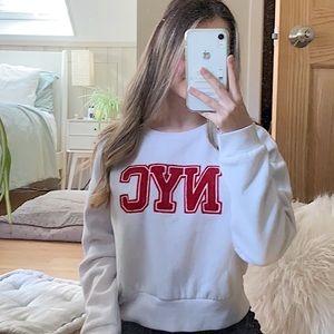 Garage NYC white sweatshirt